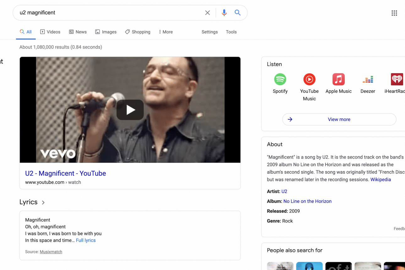 Google Search Engine With New Feature: Music-Related Queries