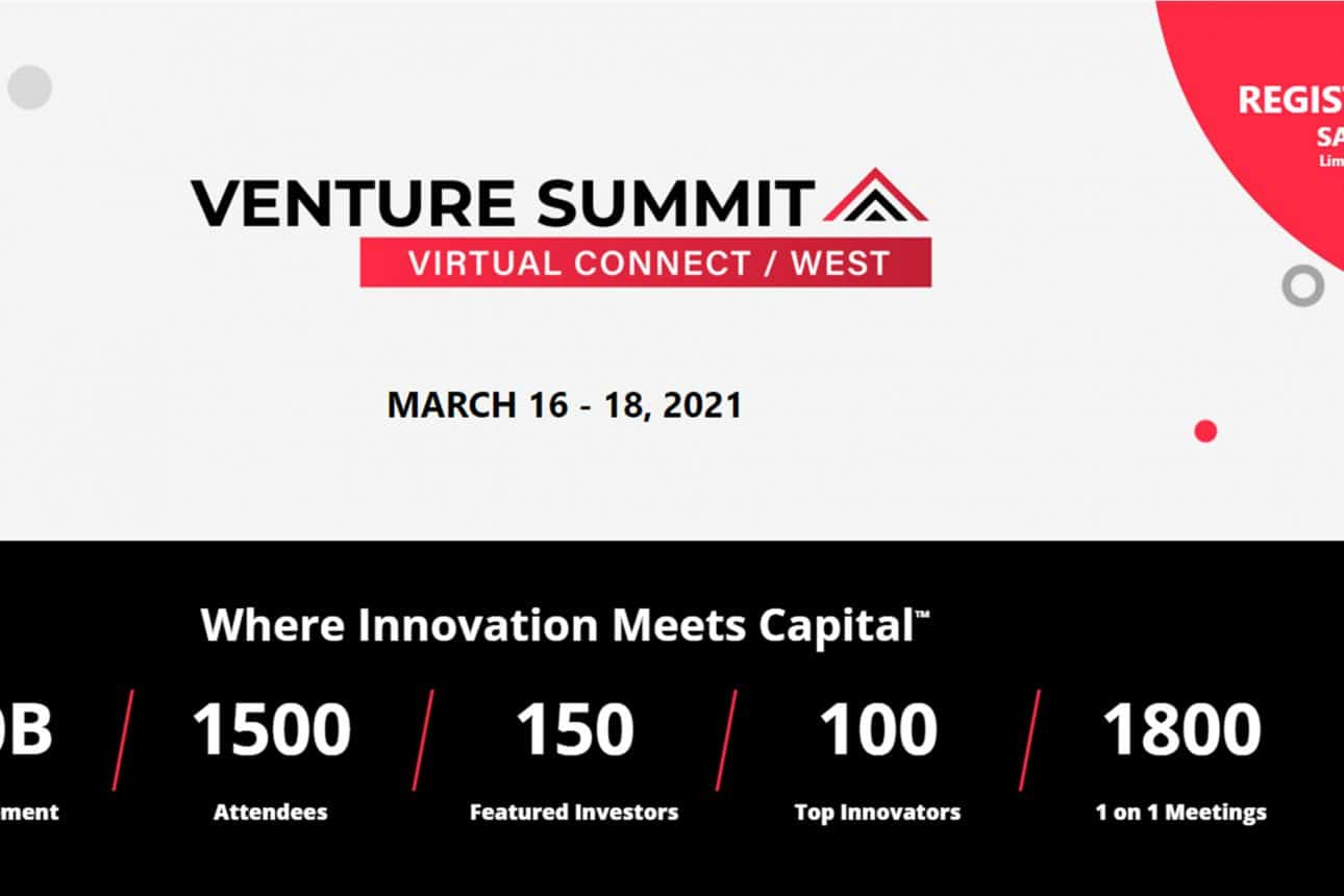 Venture Summit Virtual Connect \ West  – the must-attend event for startups and investors