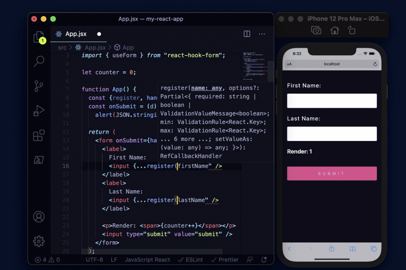 """Check the new """"developer-friendly"""" version of the React Hook Form"""