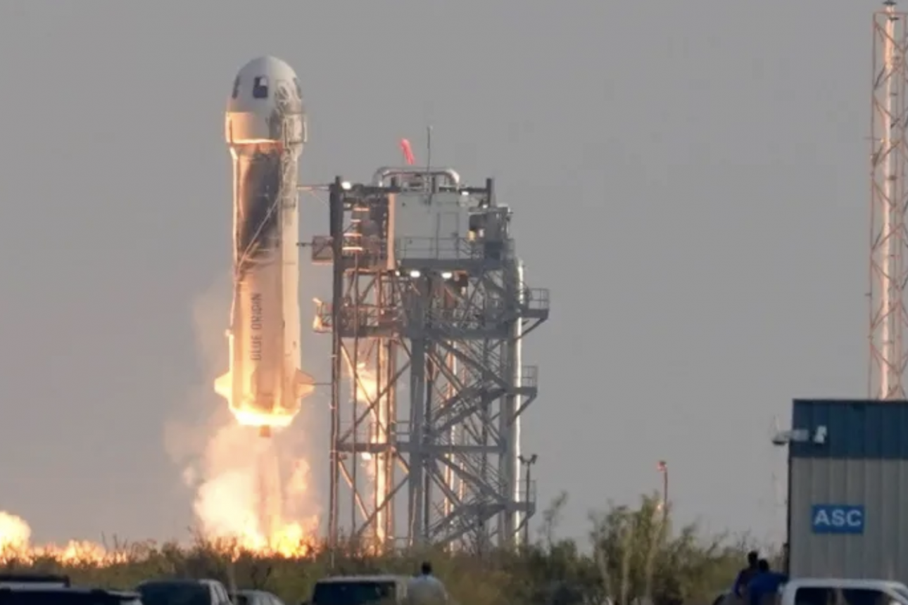 Amazon's Jeff Bezos reaches space in first crewed flight of rocket New Shepard