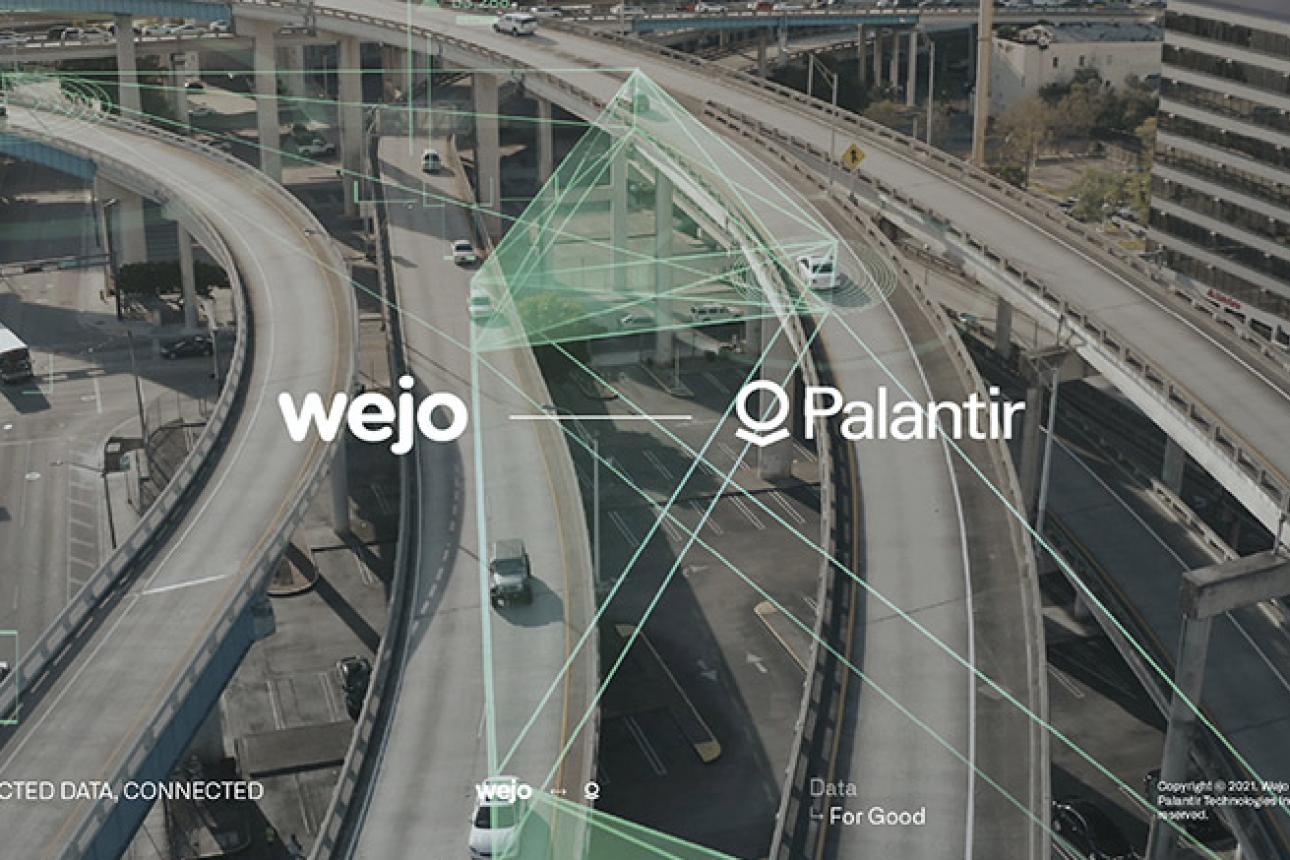 Wejo and Palantir in partnership towards Revolutionizing Mobility